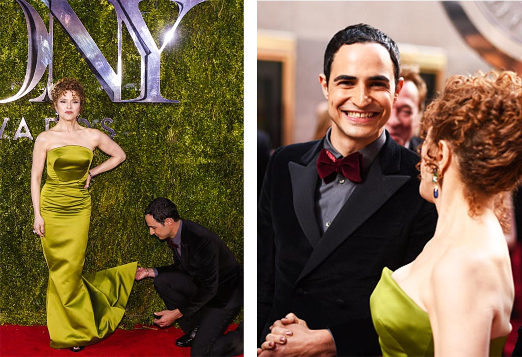 Zac Posen and Bernadette Peters