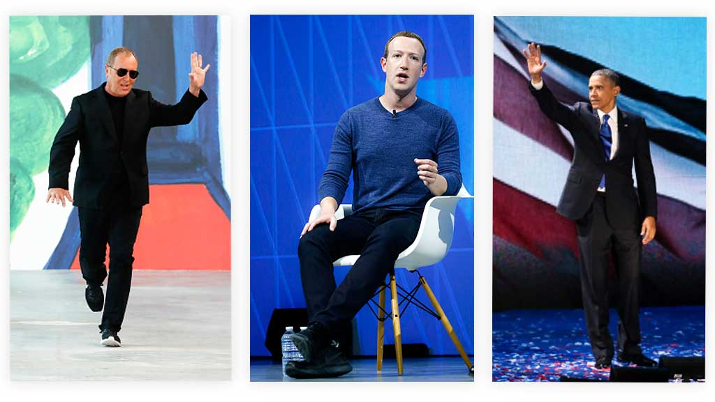 Michael Kors, Mark Zuckerberg, and President Obama