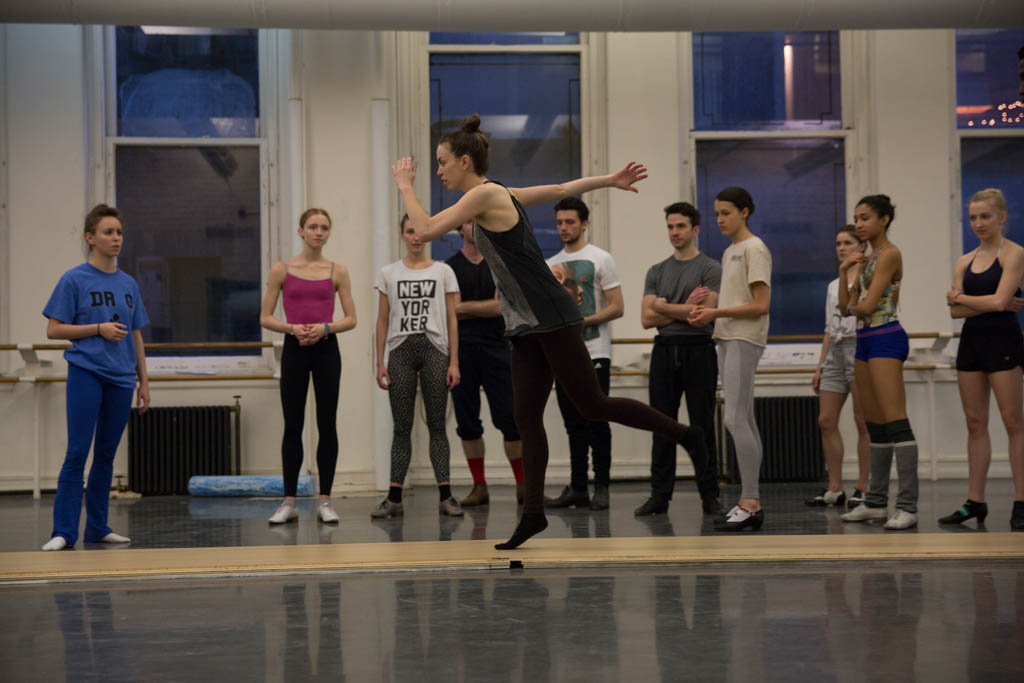 Michelle in ABT rehearsal.