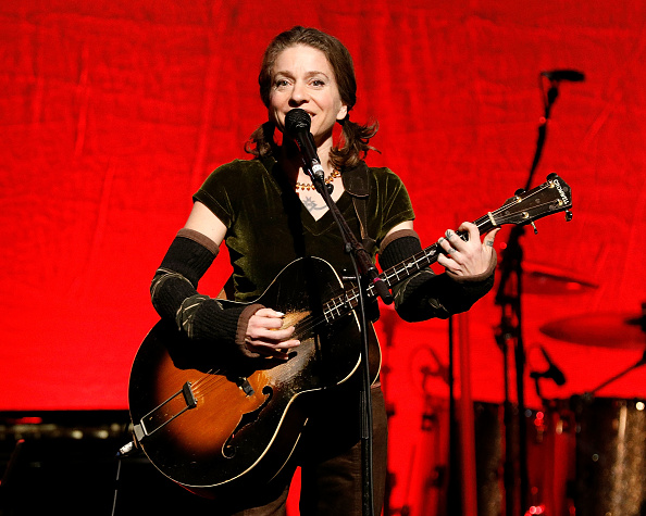 Ani DiFranco on stage.