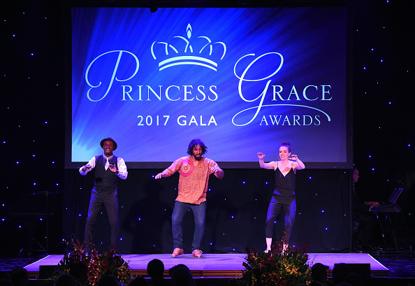 Michelle Dorrance with Joseph C. Wiggan and Jason Samuels Smith at the 2017 Princess Grace Awards Gala.